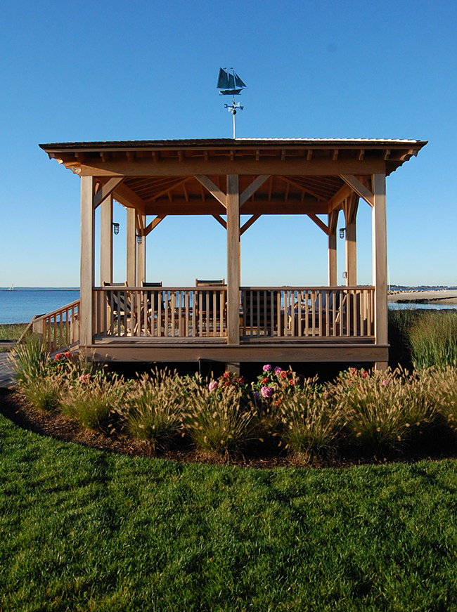 The LaurelRock Company - Residential Landscaping in CT - Bluff Point - Pergola