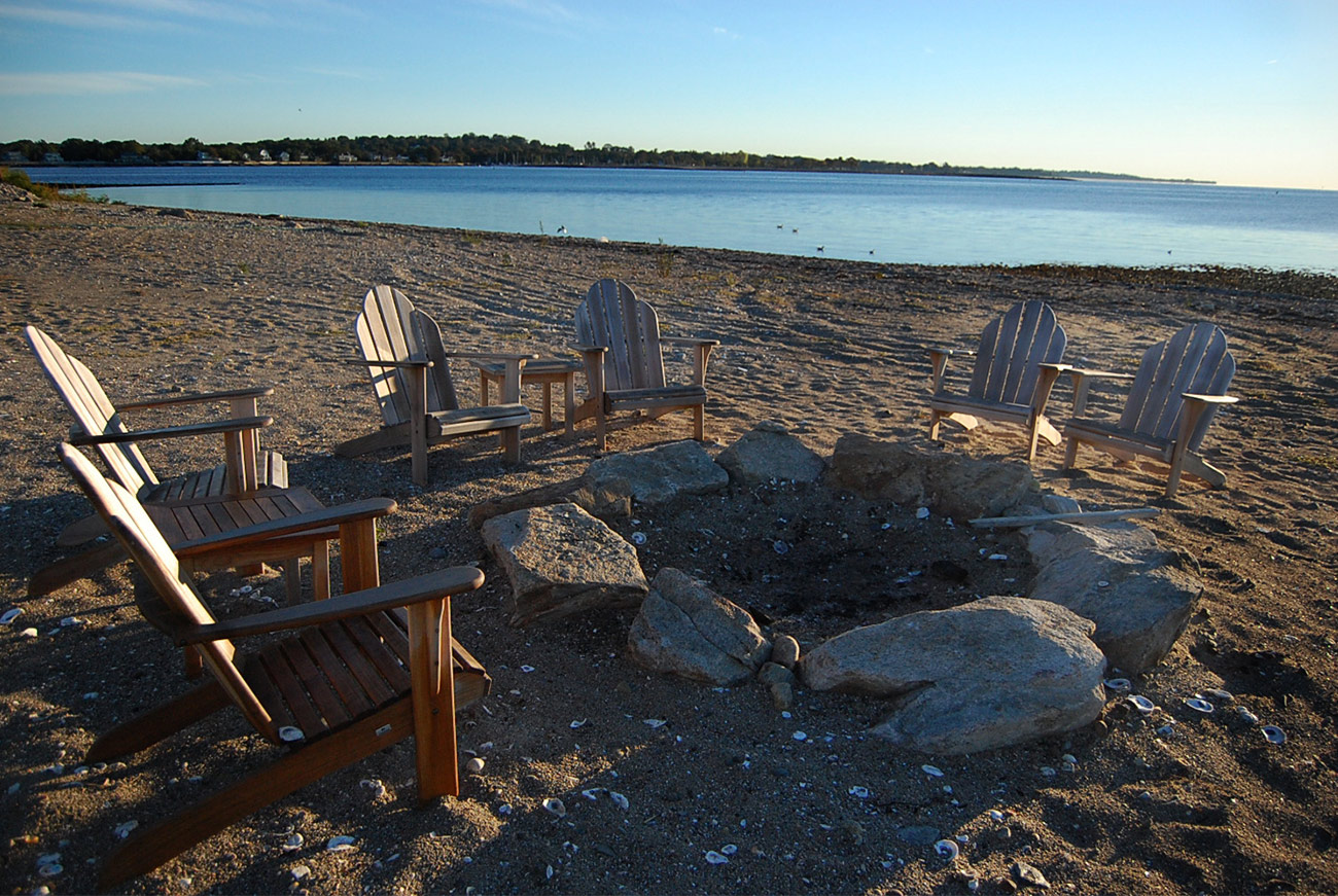 The LaurelRock Company - Residential Landscaping in CT - Bluff Point - Firepit for Gathering