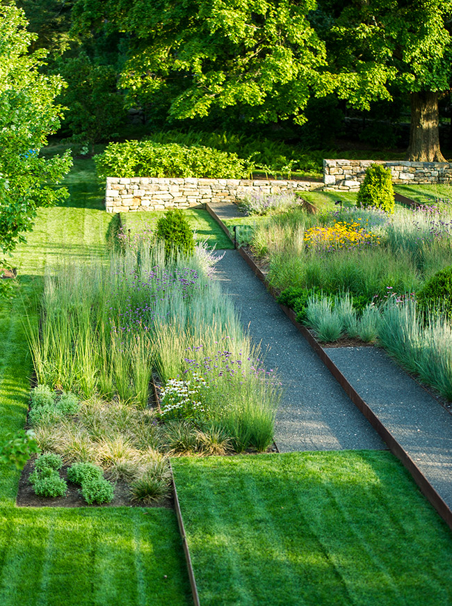 The LaurelRock Company - Residential Landscaping in Wilton CT - High Meadow Farm - Textural Gardens