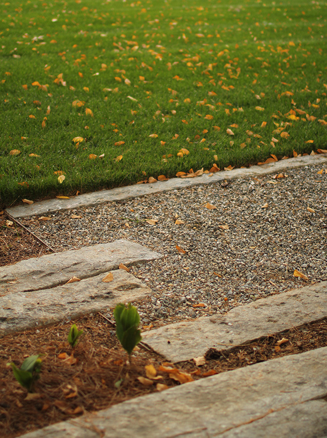 The LaurelRock Company - Residential Landscaping in Wilton CT - High Meadow Farm - Pathway Detail