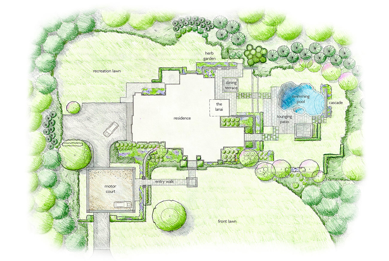 The LaurelRock Company - Residential Landscaping in CT - Hollow Tree Ridge - Landscaping Plan
