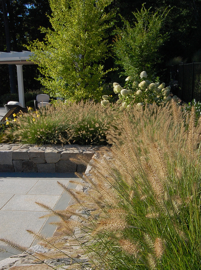 The LaurelRock Company - Residential Landscaping in CT - Sunset Ridge - Pool Garden Details